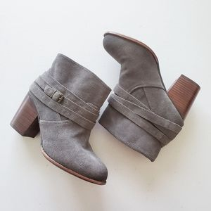 Splendid Laventa Wrap Strapped Ankle Suede Bootie